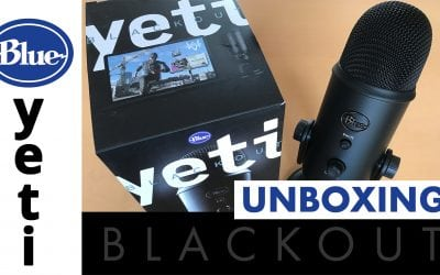 Blue Yeti BLACKOUT EDITION microphone unboxing